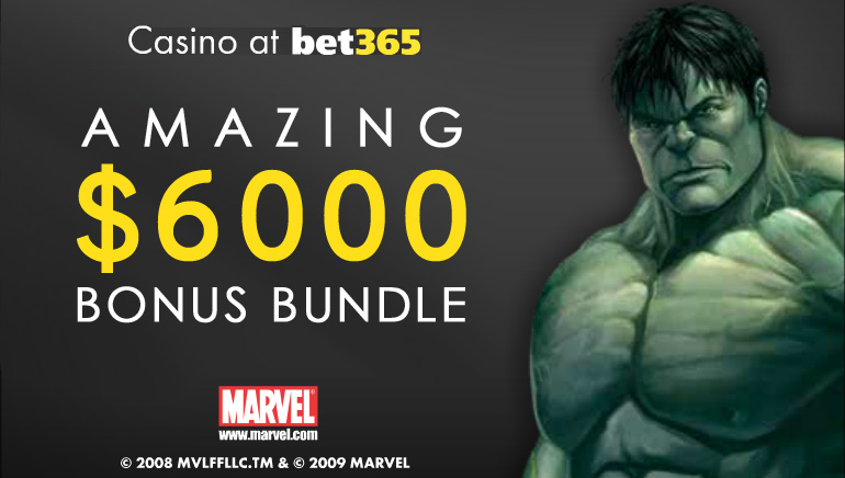 Oktobrska posebna ponudba – igralnica bet365 ponuja 6000 € denarnega bonusa