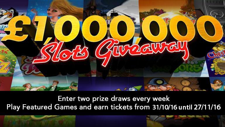 V novembru lahko osvojite bogastvo v posebni promociji igralnice bet365 £/$1,000,000 Slots Giveaway
