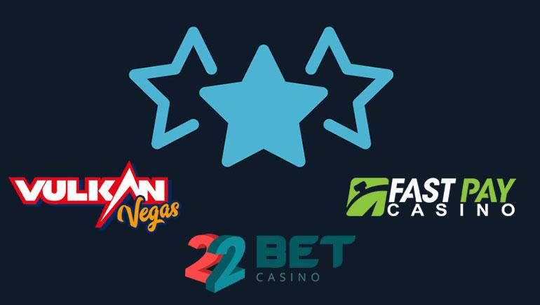 Top 3 aktualne bonus ponudbe najboljših igralnic
