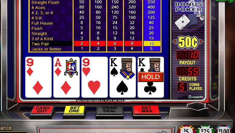 Brezplačni spletni video poker