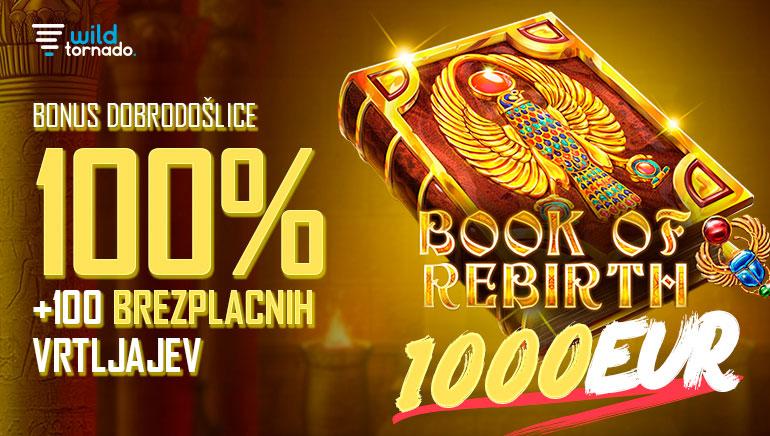 Wild Tornado Casino - BONUS BREZPLAČNIH VRTLJAJEV 100 - Bonus za brezplačno igranje na avtomatih